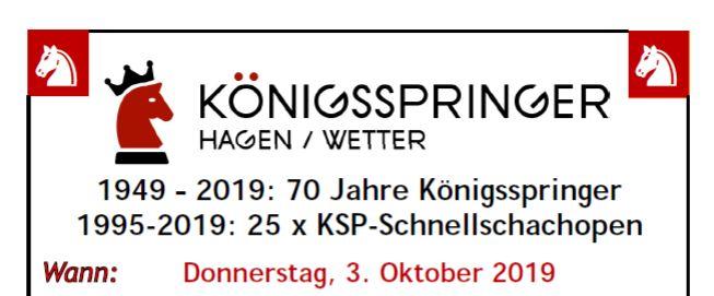 Einladung  KSP Open.